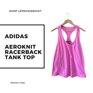 Adidas Aeroknit Racerback Athletic Perfomance Tank Top (Women's Size XXL) Pink